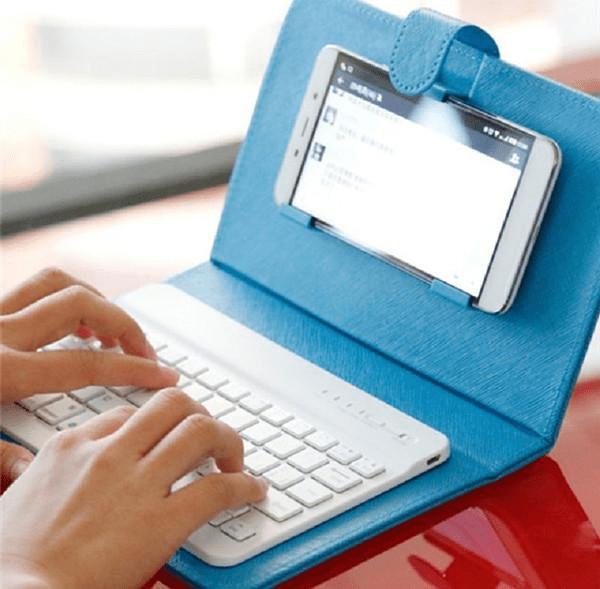 Universal Wireless Bluetooth Keyboard Phone Case Flip Cover For Smartphones Brands Trending