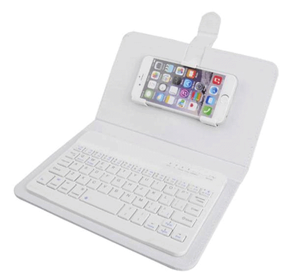 Universal Wireless Bluetooth Keyboard Phone Case Flip Cover for Smartphones