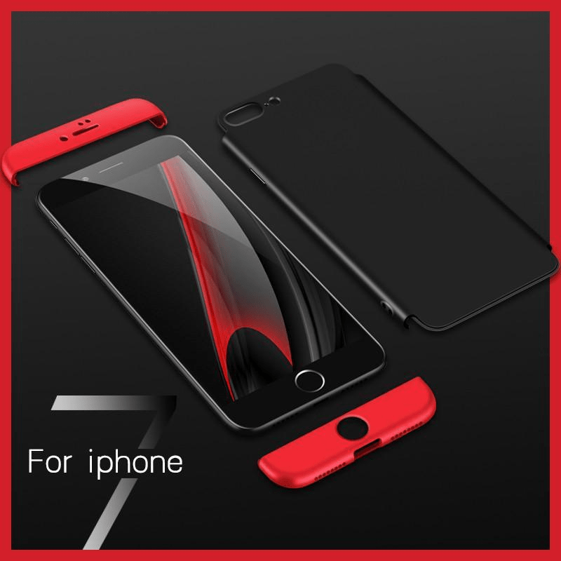 separation shoes b92c4 20247 Apple iPhone 6s, 6s Plus, 7, 7 Plus Phone Case: 360 Full Protection 3 in 1  Double Dip Phone Case