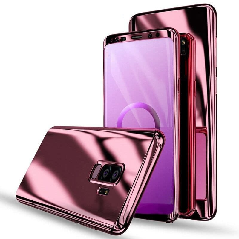 size 40 db9f4 579aa Samsung Galaxy S9 and S9 Plus Elegant Plating 360° Full Body Protective  Phone Case Cover with HD Screen Protector
