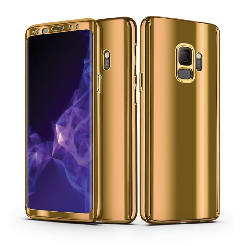 size 40 800eb a4ef4 Samsung Galaxy S9 and S9 Plus Elegant Plating 360° Full Body Protective  Phone Case Cover with HD Screen Protector