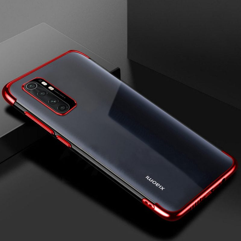 Bakeey Plating Shockproof Non-yellow Transparent Soft TPU Protective Case for Xiaomi Mi Note 10 Lite