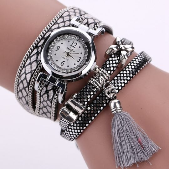 DUOYA Fashion Serpentine Pattern Strap Ladies Bracelet Watch Casual Women Quartz Watch