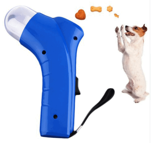 New dog feeder pet food catapult PET TREAT LAUNCHER dog toy funny dog