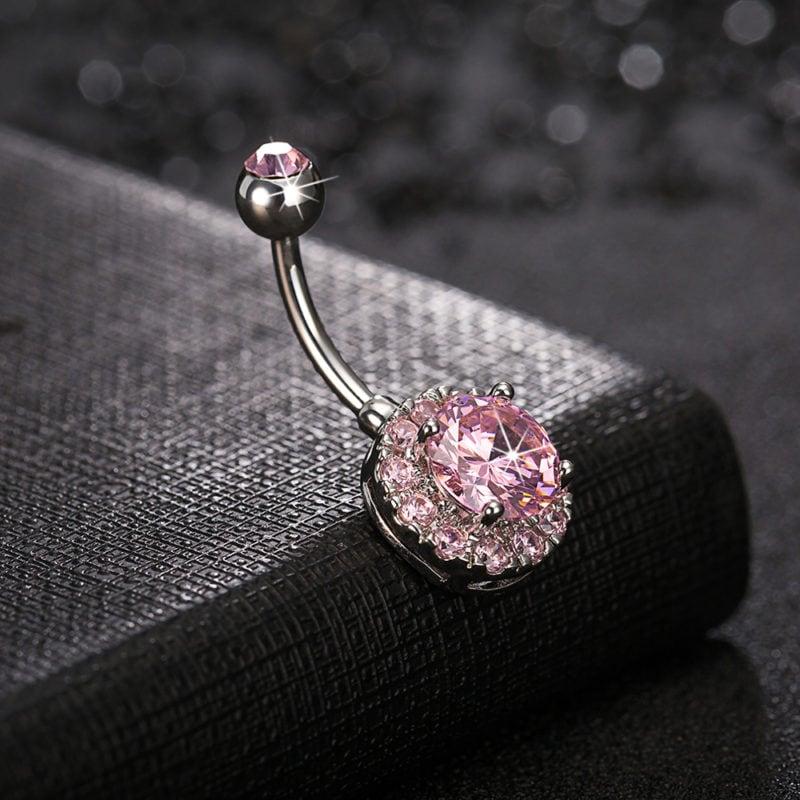 Trendy Dazzling Zirconia Crystal Body Jewelry Fashion Belly