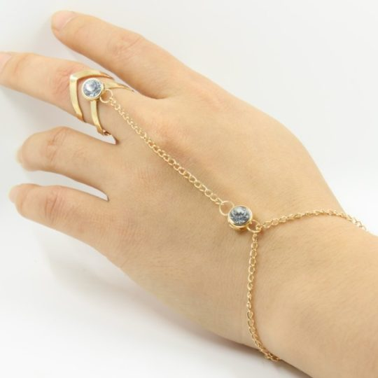 Fashion Chain Bracelets Hollow Geometric Rhinestone Bracelet