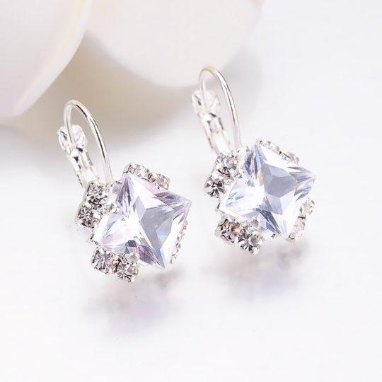 Women rhombus earrings