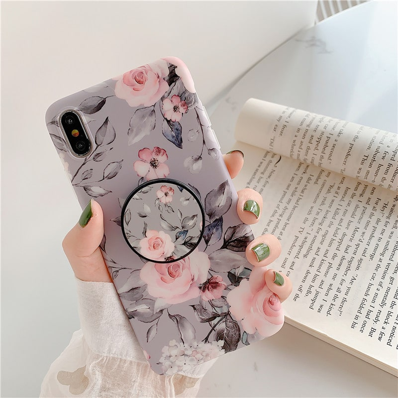 Simple small floral phone case