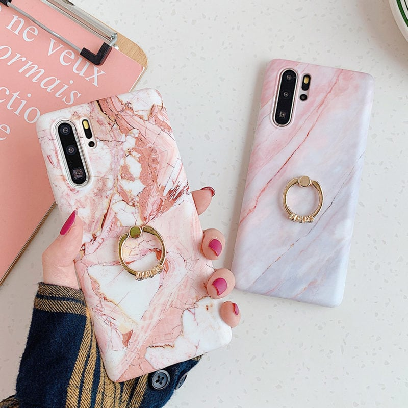 Marble stand phone case