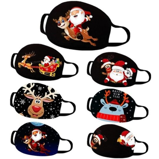 Christmas printed protective mask