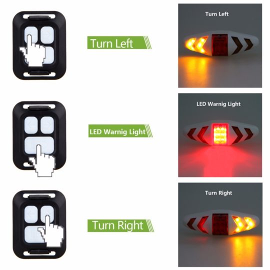 Wireless remote control bicycle taillight