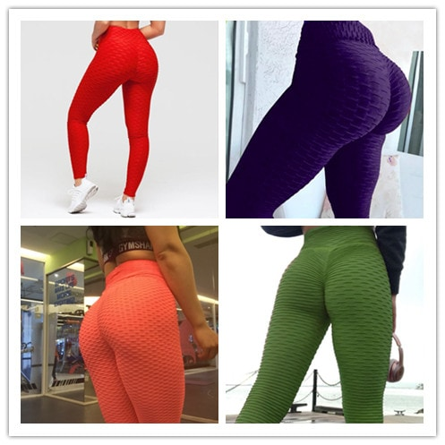 Leggings Women Gym High Waist Push Up Yoga Pants Jacquard Fitness Legging Running Trousers Woman Tight Sport Pants